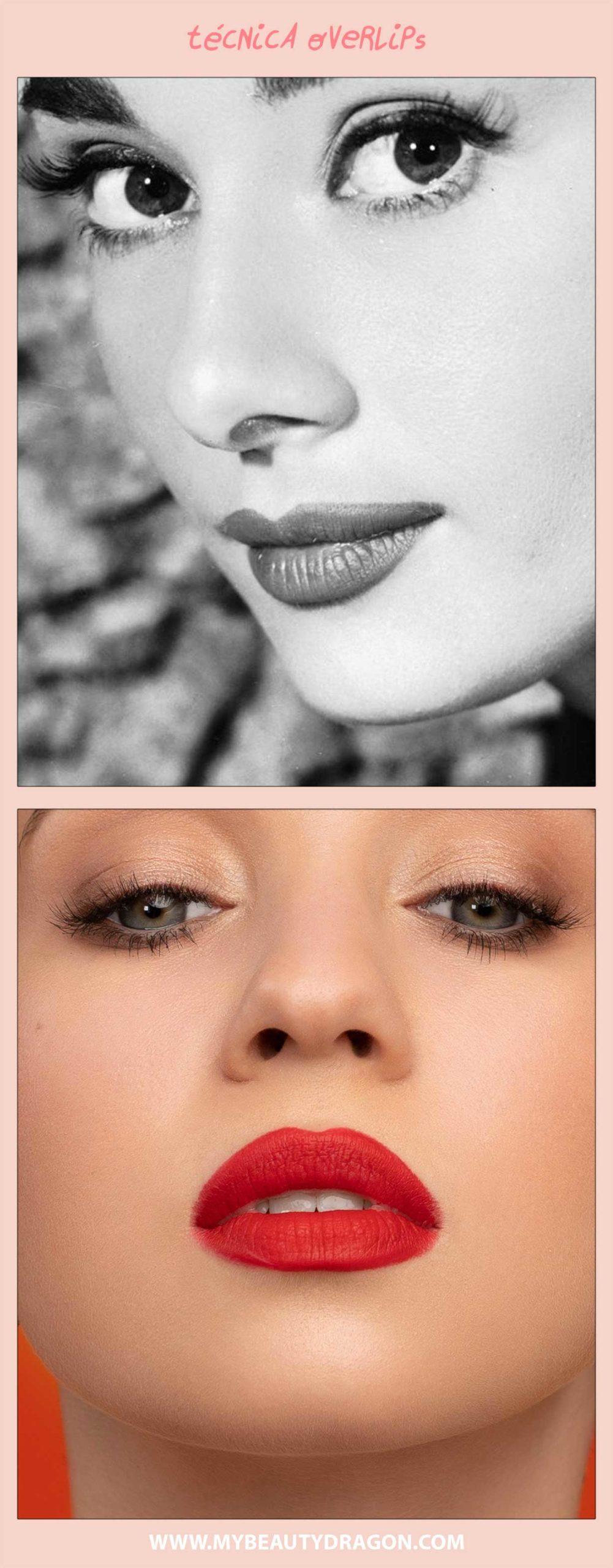 Conseguir labios más grandes con la técnica overlips